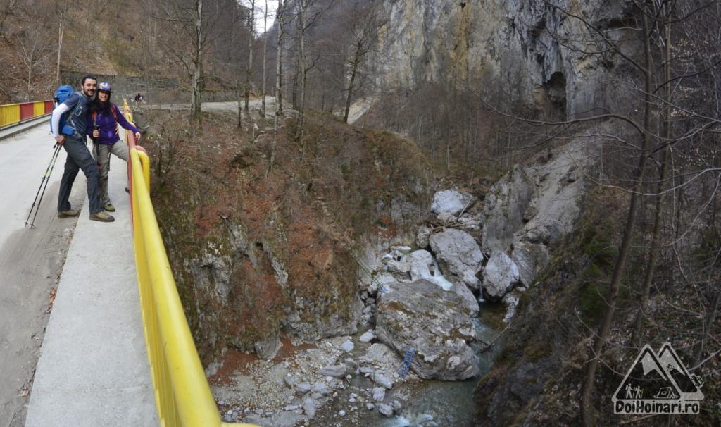 Podul peste Oltet (se pot vedea scarile ce coboara la rau / foto din alta tura)
