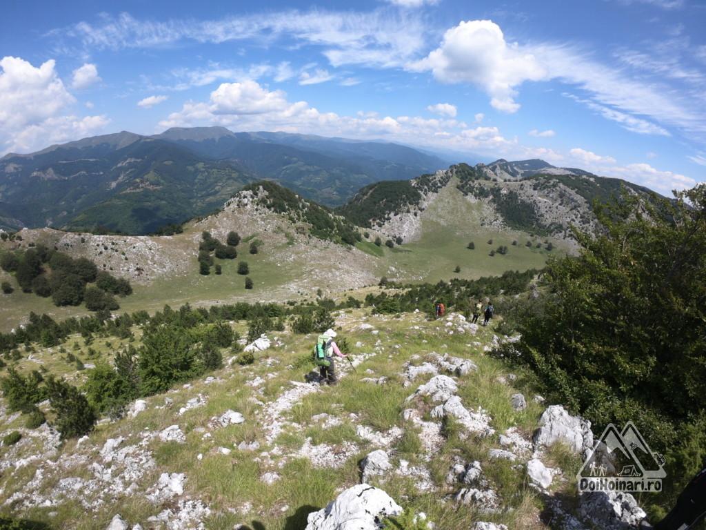 Crovul Medved, în vale