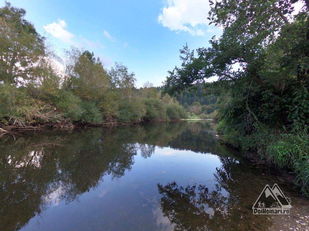 Dunărea cu 1km înainte de sifon