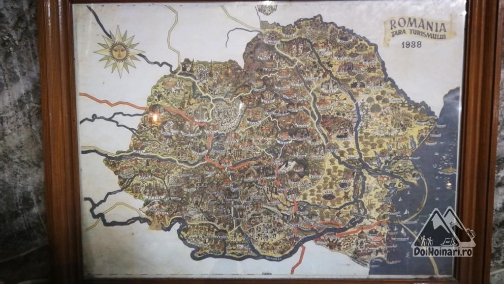 Harta României - 1938