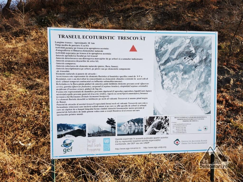Vârful Trescovăț - Panou Informare
